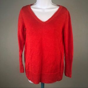 Eileen Fisher Size Small Linen Sweater Red Orange